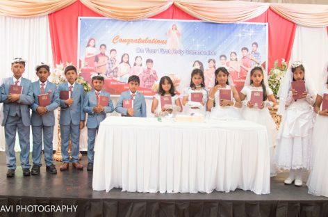 കിംഗ്സ്ലിന് മലയാളി സമൂഹത്തിന് അഭിമാനമായി 12 കുട്ടികളുടെ പ്രഥമ ദിവ്യകാരുണ്യ സ്വീകരണം