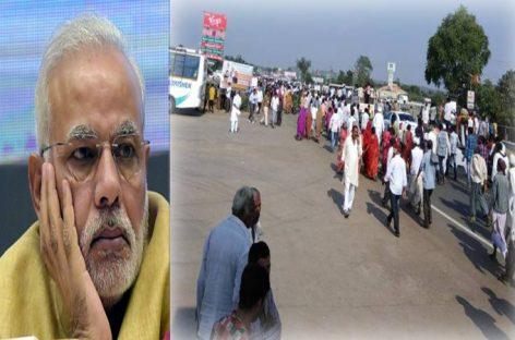 മോദിയുടെ പ്രസംഗം കേൾക്കാൻ ഗുജറാത്തില് ആളില്ല !!! പ്രധാനമന്ത്രി നരേന്ദ്ര മോദി പ്രസംഗിക്കവേ സദസില് നിന്ന് ജനങ്ങള് ഇറങ്ങിപ്പോയി