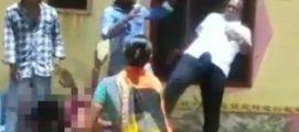 ഭൂമി തർക്കം : പ്രതിഷേധിച്ച സ്ത്രീയുടെ നെഞ്ചിന് ചവിട്ടി പഞ്ചായത്ത് അംഗം,നേതാവ് അറസ്റ്റില്