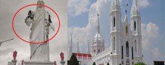 ഗജ ചുഴലിക്കാറ്റ് വേളാങ്കണ്ണി പള്ളിയിൽ കനത്ത നാശം; ഏഷ്യയിലെ ഏറ്റവും വലിയ ക്രിസ്തുരൂപം കാറ്റില് തകര്ന്നു