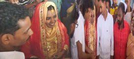 പെരുമഴയിൽ എല്ലാം ഒഴുകി പോയി; ഒടുവിൽ ക്യാമ്പിൽ വിവാഹ സൽക്കാരം