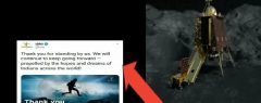 പിന്തുണച്ചതിന് നന്ദി…!  ഇസ്രോയുടെ ട്വീറ്റ്;  വിക്രം ലാന്ഡറിന്റെ ആയുസ്സ് ശനിയാഴ്ച തീരും, ബന്ധം വീണ്ടെടുക്കാമെന്ന പ്രതീക്ഷയില്ല