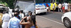 ആലപ്പുഴ പുറക്കാട് ദേശീയപാതയിൽ കെഎസ്ആർടിസി ബസും കാറും കൂട്ടിയിടിച്ച് രണ്ടു മരണം