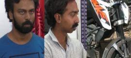 ബൈക്കിലെത്തി മാല മോഷണം: പാലക്കാട് സിനിമ സഹസംവിധായകനും സുഹൃത്തും പിടിയിൽ