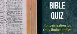സുവാറ ബൈബിൾ ക്വിസ് മത്സരത്തിന്റെ രണ്ടാമത്തെ ആഴ്ച നൂറുശതമാനം മാർക്കുകൾ നേടിയത് അമ്പതു കുട്ടികൾ . ആദ്യ റൗണ്ട് മത്സരത്തിന്റെ അവസാന മത്സരം ഈ ശനിയാഴ്ച .