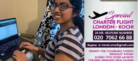 യുണൈറ്റഡ് മലയാളി ഓർഗനൈസേഷൻ-യുകെയുടെ ചാർട്ടേർഡ് ഫ്ലൈറ്റ് അപേക്ഷ ജൂൺ 15 ന് ശേഷം പരിഗണിക്കുമെന്ന് ഇന്ത്യൻ ഹൈക്കമ്മീഷൻ ലണ്ടൻ