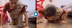 സാരിയിൽ പുഷ്അപ് ചെയ്ത്  ഞെട്ടിച്ചു ബോളിവുഡ് താരം ഗുൽ പനാഗ്; നടി ഗുല്പനാഗിന്റെ പുഷ്അപ് വീഡിയോ വൈറൽ